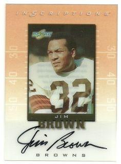 Jim Brown Inscriptions Auto 1999 Score Browns