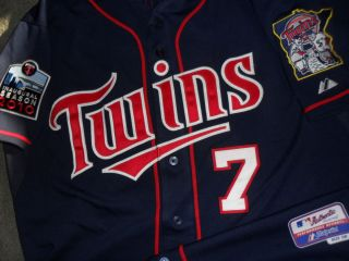Joe Mauer 2010 Minnesota Twins Player issued Pro Cut Authentic Game