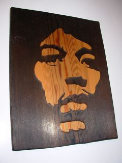 Jimi Hendrix Woodburn Custom Art Cedar Wood Burn
