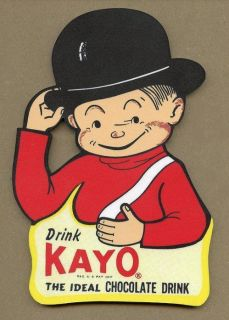 KAYO CHOCOLATE DRINK SODA WOOD WALL SIGN PLAQUE DECORATION SIGN