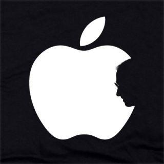 Steve Jobs Apple T Shirt Silhouette Tribute Mac Logo Geek Nerd Multi