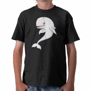 Happy Beluga Whale Cartoon Shirt