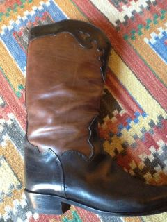 and Brown Womens Cowboy Boots by Joan and David Size 7 5