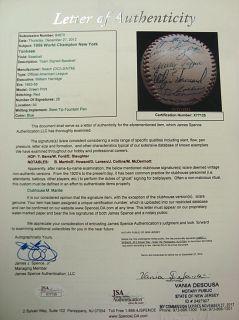 Beautiful 1956 New York Yankees Team Signed OAL Baseball JSA