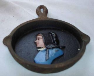 Vintage Cast Iron Skillet Frying Pan John Wright Amish Ash Tray