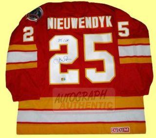 Autographed Joe Nieuwendyk Calgary Flames Jersey Red