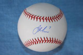 Joe Mauer Autographed Rawlings Official Baseball Minnesota Twins MLB