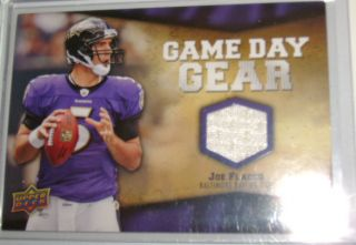 Joe Flacco Game Day Gear Jersey Card NFL FL