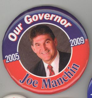 2009 JOSEPH JOE MANCHIN West Virginia GOVERNOR Inauguration PIN Button