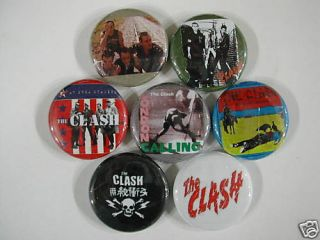 The Clash 7 New Pins Buttons Badges New Joe Strummer Z