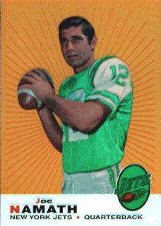Joe Namath 1996 Topps Reprint Refractor Card 5 CU973