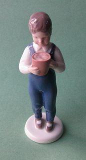 Bing Grondahl B G Royal Copenhagen Little Children Jorgen w Bucket Boy