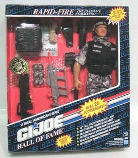 93 Hall Fame G I Joe Rapid Fire 12 Doll MISB