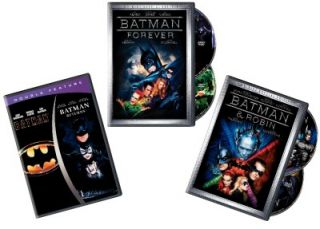 Batman Complete 4 Movie Collection (5 Disc DVD Set) Returns, Forever