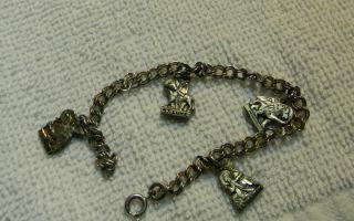 Silver Creed Religious Charm Bracelet St Matthew Luke Mark John
