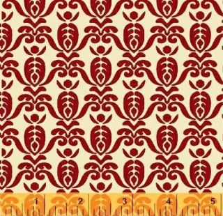 BTY Red Cream Coverlet Repro Farmer Fancy Wilmington Quilt Shop Fabric
