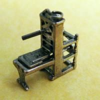 RARE Vintage Sterling Silver Charm Movable Miniature Gutenberg