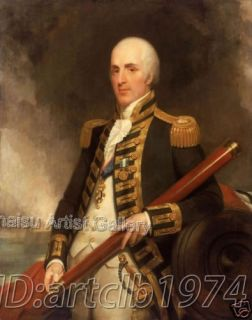High quality Portrait Oil Painting Admiral Sir Alexander John Ball