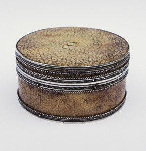 John Paul Cooper Signed Shagreen Box c1910 RARE Arts Crafts