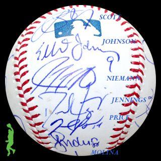 2012 Tampa Bay Rays Team Signed Auto Baseball Ball David Price Evan