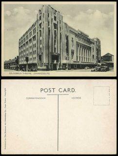 Johannesburg Colosseum Theatre Street Cars Old Postcard