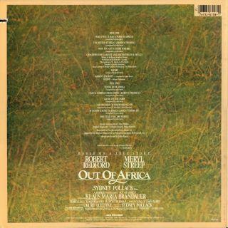 LP OST   Robert Redford / Meryl Streep OUT OF AFRICA   John Barry   NM