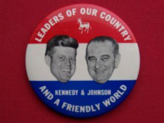 Nice Kennedy Johnson Political Jugate Campaign Button