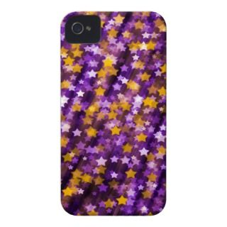 Colorful Sparkling Stars Purple iPhone 4 Covers