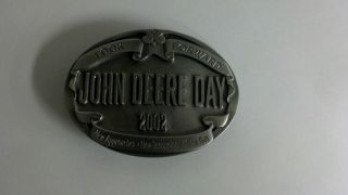 John Deere Day 2002 Look Forward New Approaches Belt Buckle