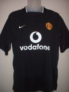 Manchester United Cantona 7 Vintage Black Football Soccer Shirt