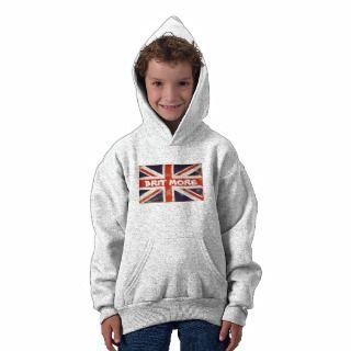 Vintage Union Jack BRIT MORE Kids Hoodie