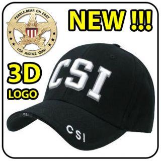 New CSI Cap Crime Scene Investigation Police C s I Hat