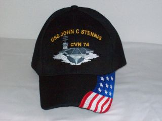 US Navy CVN 74 USS John C STENNIS Military Ball Cap Hat