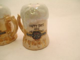 Up for auction is a nice set of miniature beer mug salt and pepper