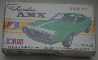 Original SEALED Johan American Motors AMX Javelin 1 25 Scale Model Kit
