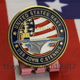 Navy USS John C STENNIS CVN 74 Military Challenge Coin 627