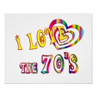 Comparta su amor para los años 70 con este diseño de la diversión