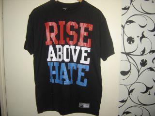 BRAND NEW JOHN CENA T SHIRT RISE ABOVE HATE T SHIRT WRESTLING WWE