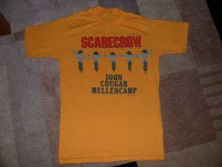 John Cougar Mellencamp Vintage T Shirt Scarecrow RARE 1988