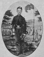 Civil War Stencil John Cook Medal of Honor 1847 Bugler
