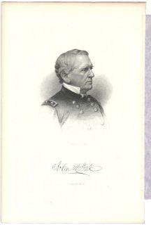 John Adams Dix Civil War General NY Governor Antique Engraving Print D
