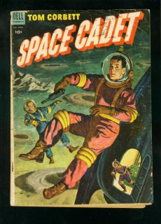 TOM CORBETT SPACE CADET #9 1954 DELL COMICS JOHN LEHTI RAY GUN COVER