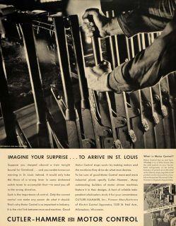 1935 Ad Cutler Hammer Motor Control John Pennebaker   ORIGINAL