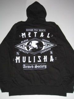 Four Corners Metal Mulisha Black Hoodie Sweater Hooded Hoody Mens M
