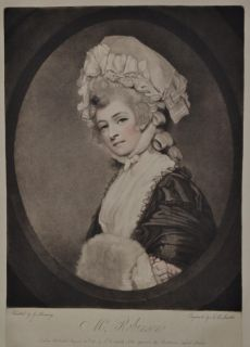 John Raphael Smith, after George Romney: Portrait Of Mrs. Robinson