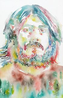 JOHN BONHAM WATERCOLOR PORTRAIT LED ZEPPELIN drum 7 dvd cd live lp