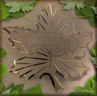 St Saint John Maple Leaf Sterling Silver Pin Bond Boyd