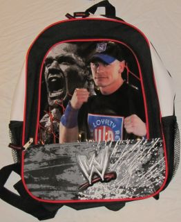 Brand New John Cena WWE Backpack Black Red and White