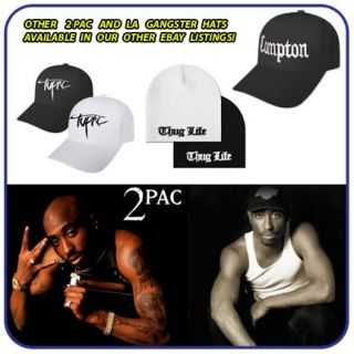 New Fitted Thug Life 2Pac Ball Tupac Hat 2 Pac Cap BW