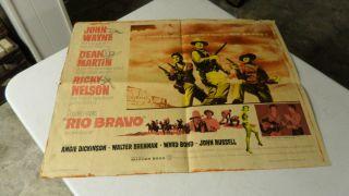John Wayne Movie Poster Rio Bravo Dean Martin Angie Dickinson